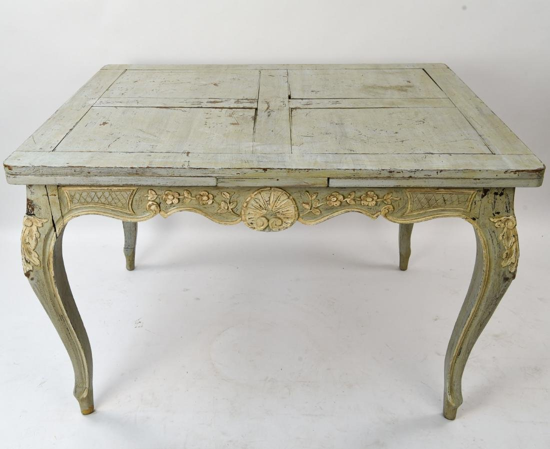 19TH C. ITALIAN PAINTED EXTENSION DINING TABLE