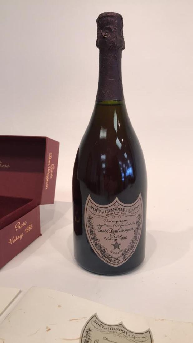DOM PERIGNON VINTAGE 1988 ROSE BOTTLE - 4