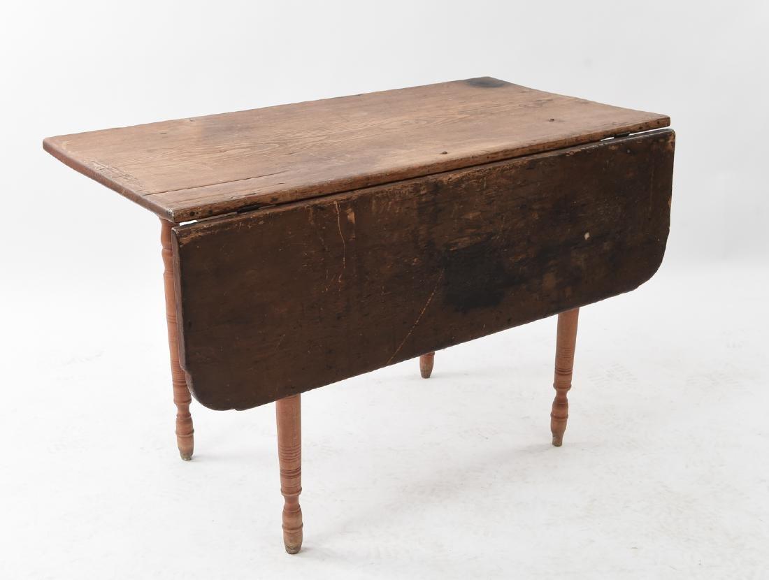 19TH C. DROP LEAF TABLE