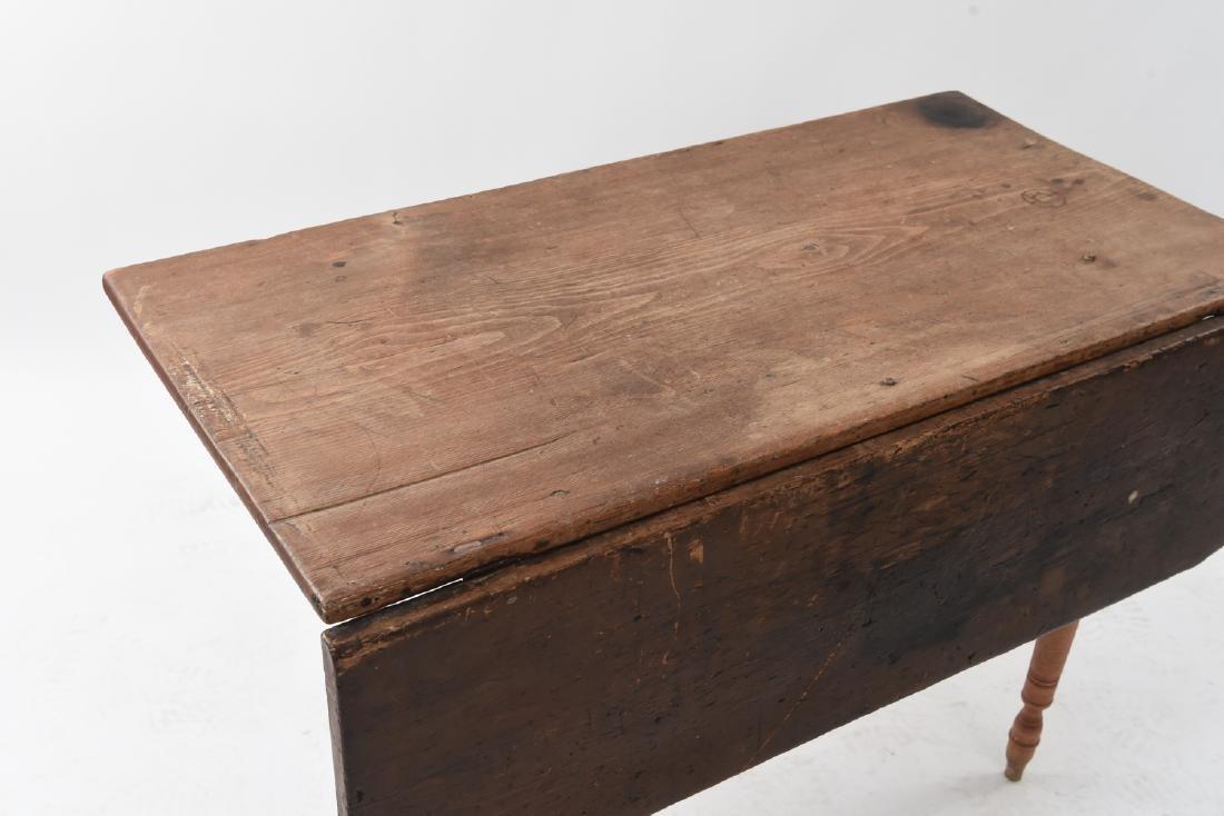19TH C. DROP LEAF TABLE - 2