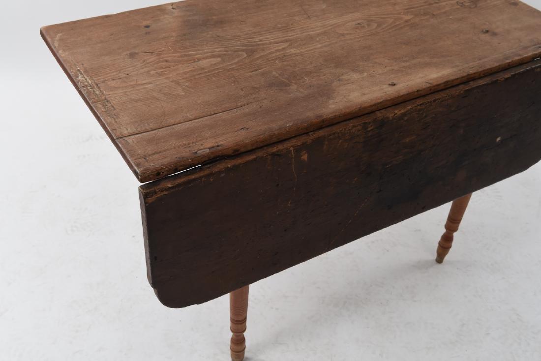19TH C. DROP LEAF TABLE - 3