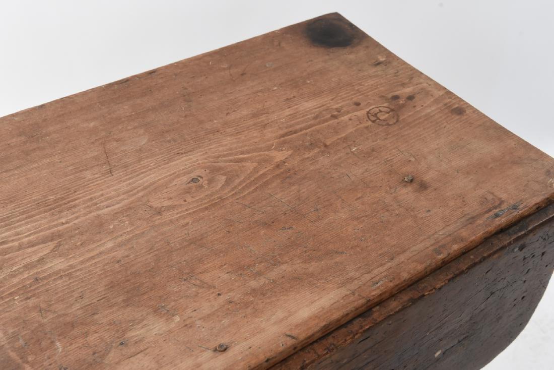 19TH C. DROP LEAF TABLE - 4