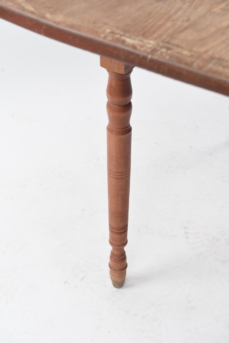 19TH C. DROP LEAF TABLE - 6