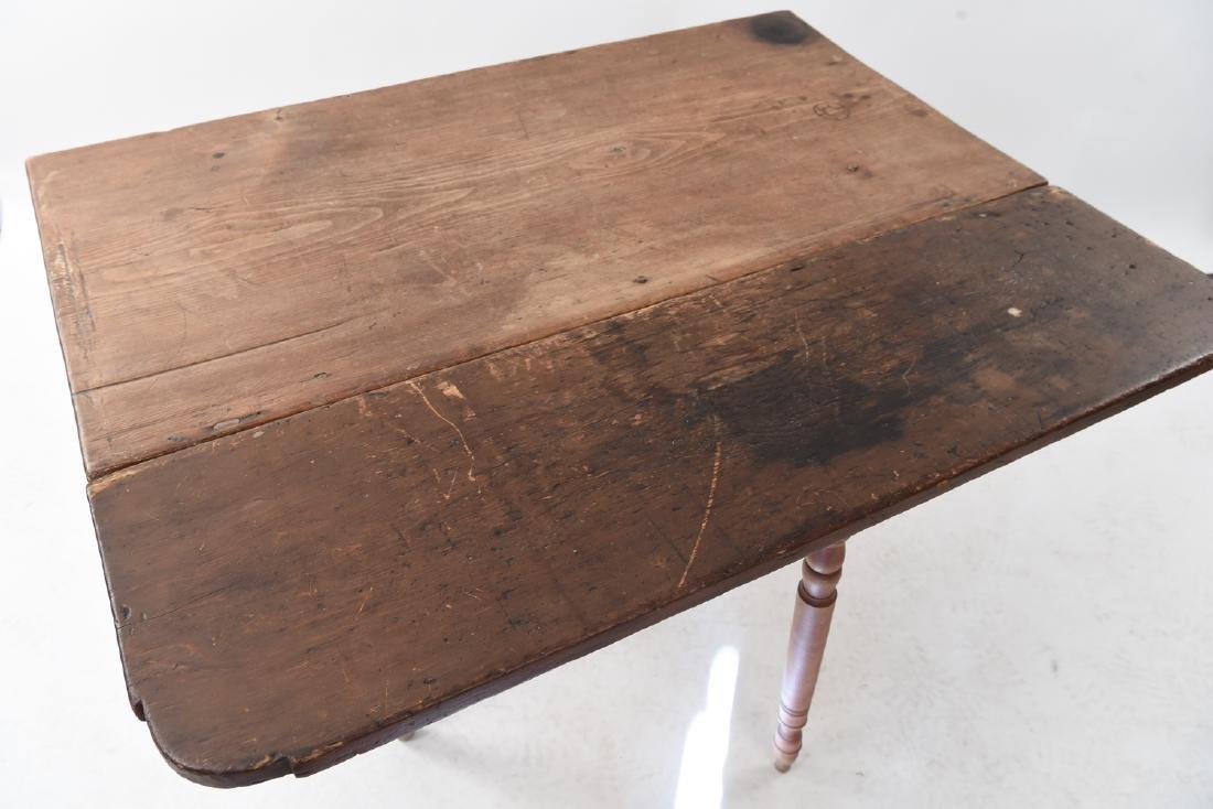 19TH C. DROP LEAF TABLE - 8