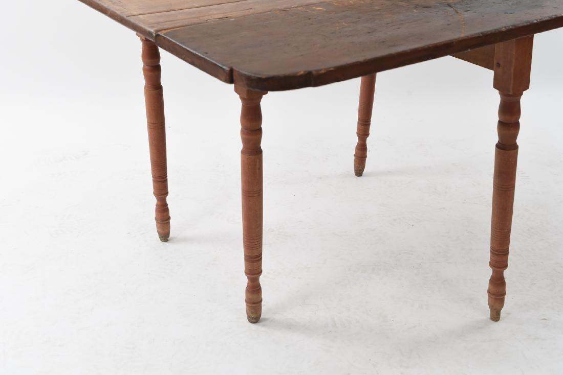 19TH C. DROP LEAF TABLE - 9