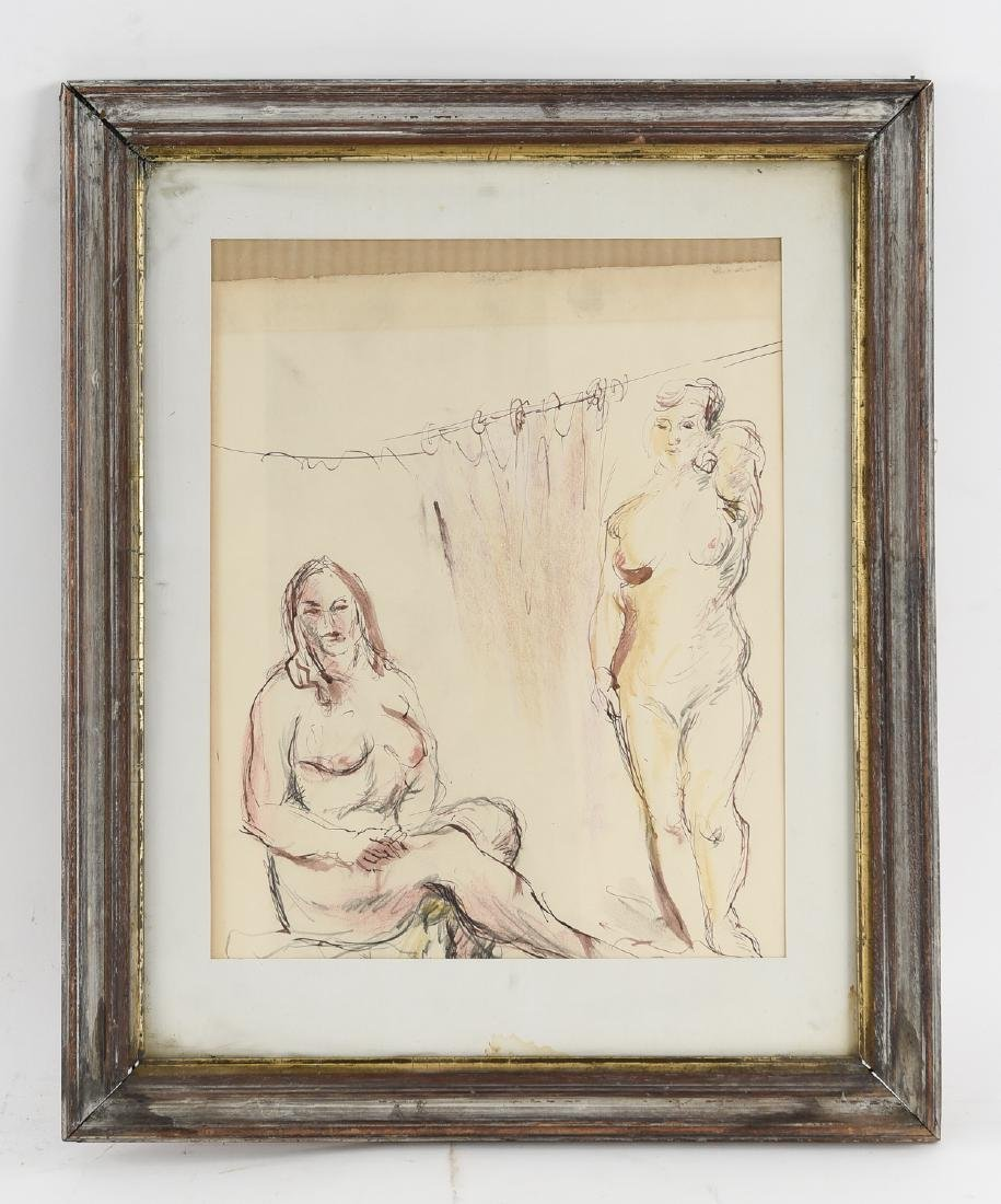 DRAWING OF NUDE BATHERS