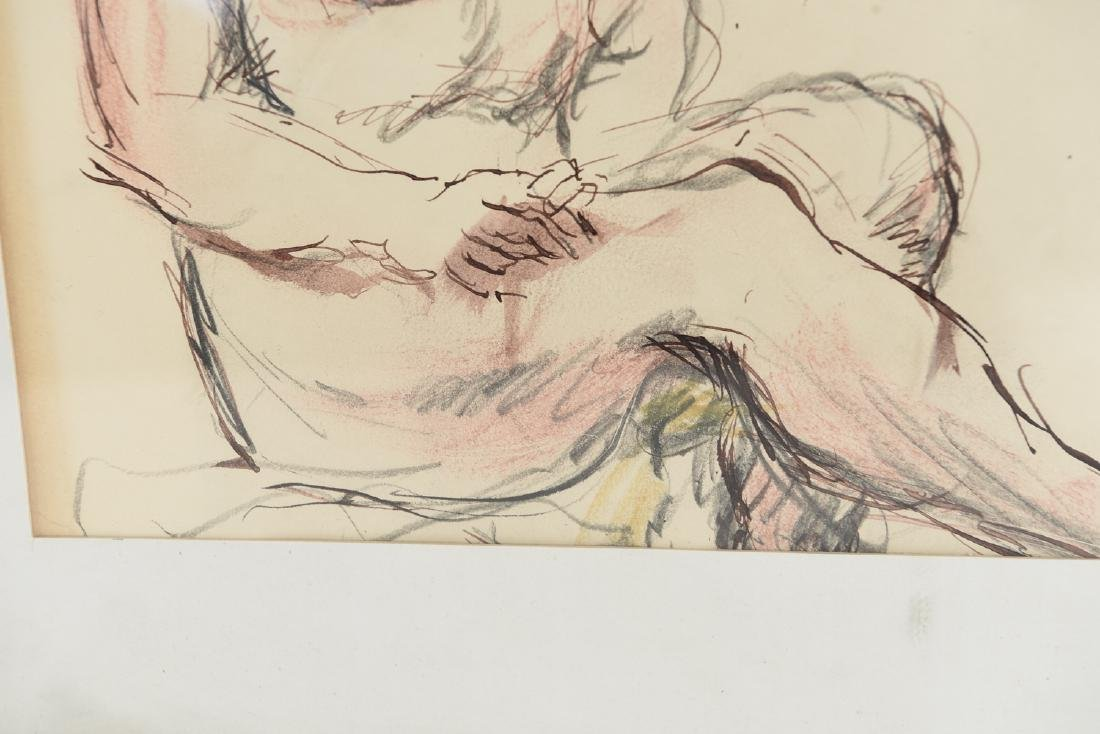 DRAWING OF NUDE BATHERS - 8