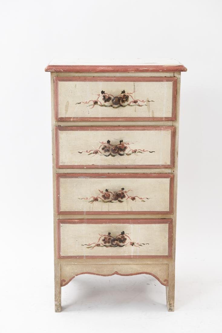 SMALL PAINTED 4-DRAWER CHEST