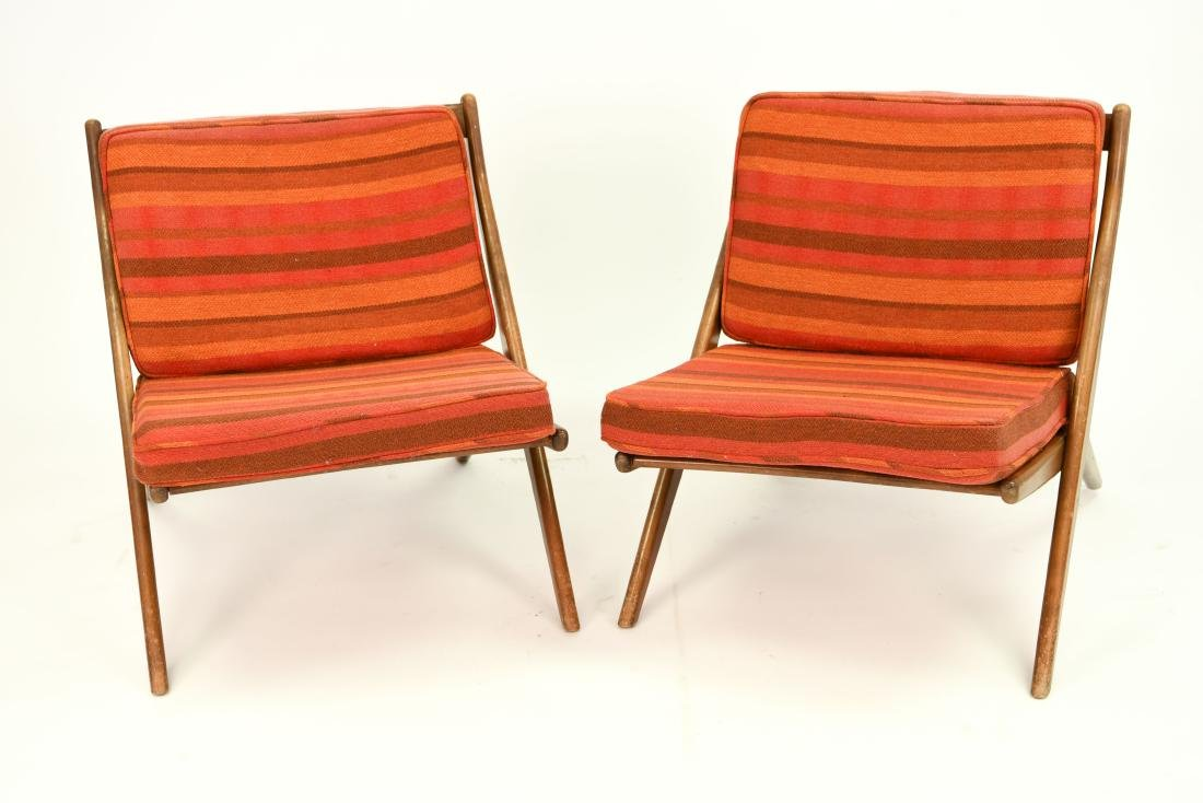 PAIR OF MID-CENTURY DUX CHAIRS