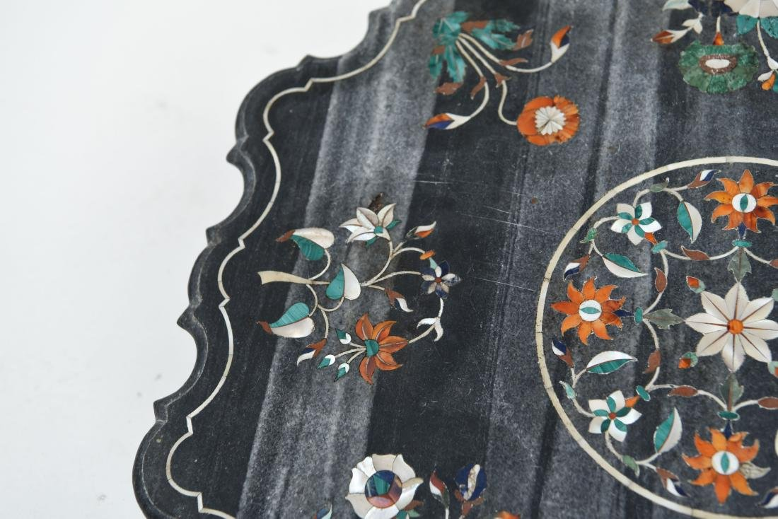 19TH CENTURY INDIAN PIETRA DURA MARBLE TABLE TOP - 2