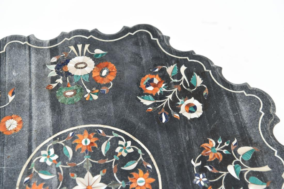19TH CENTURY INDIAN PIETRA DURA MARBLE TABLE TOP - 3