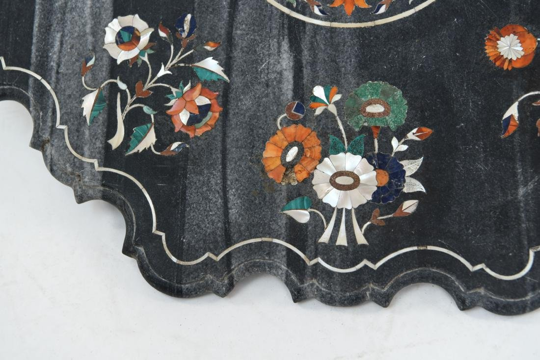 19TH CENTURY INDIAN PIETRA DURA MARBLE TABLE TOP - 4