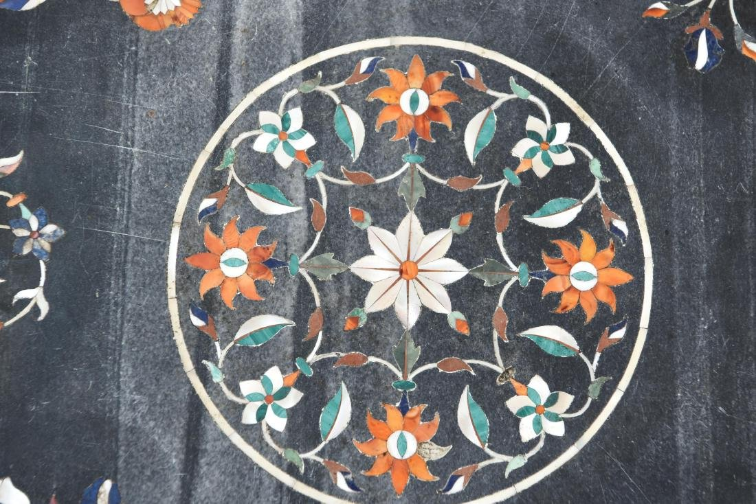 19TH CENTURY INDIAN PIETRA DURA MARBLE TABLE TOP - 5