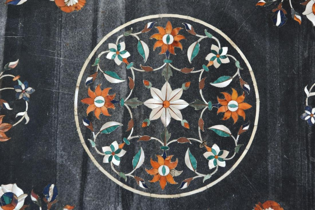 19TH CENTURY INDIAN PIETRA DURA MARBLE TABLE TOP - 6