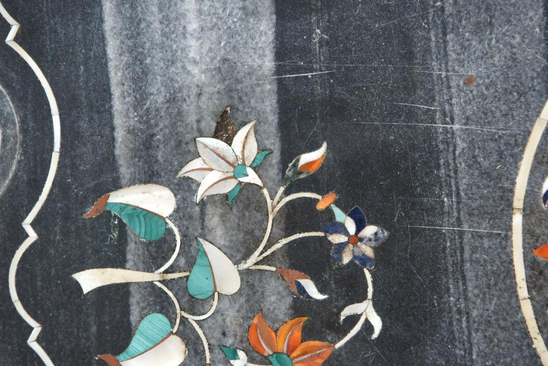 19TH CENTURY INDIAN PIETRA DURA MARBLE TABLE TOP - 7