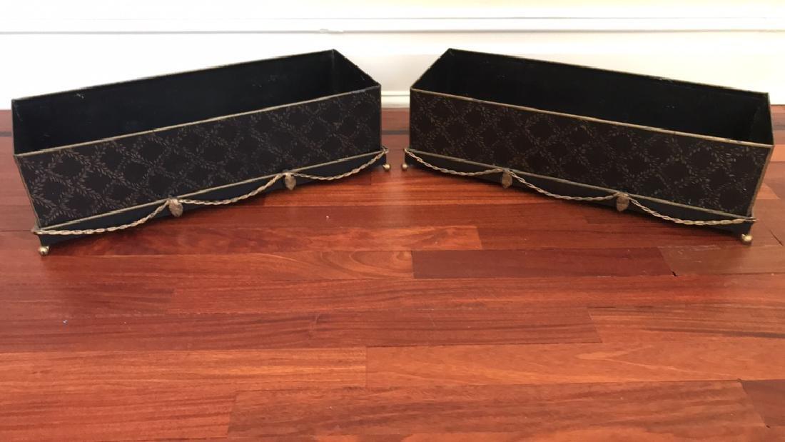 PAIR PLANTER BOXES