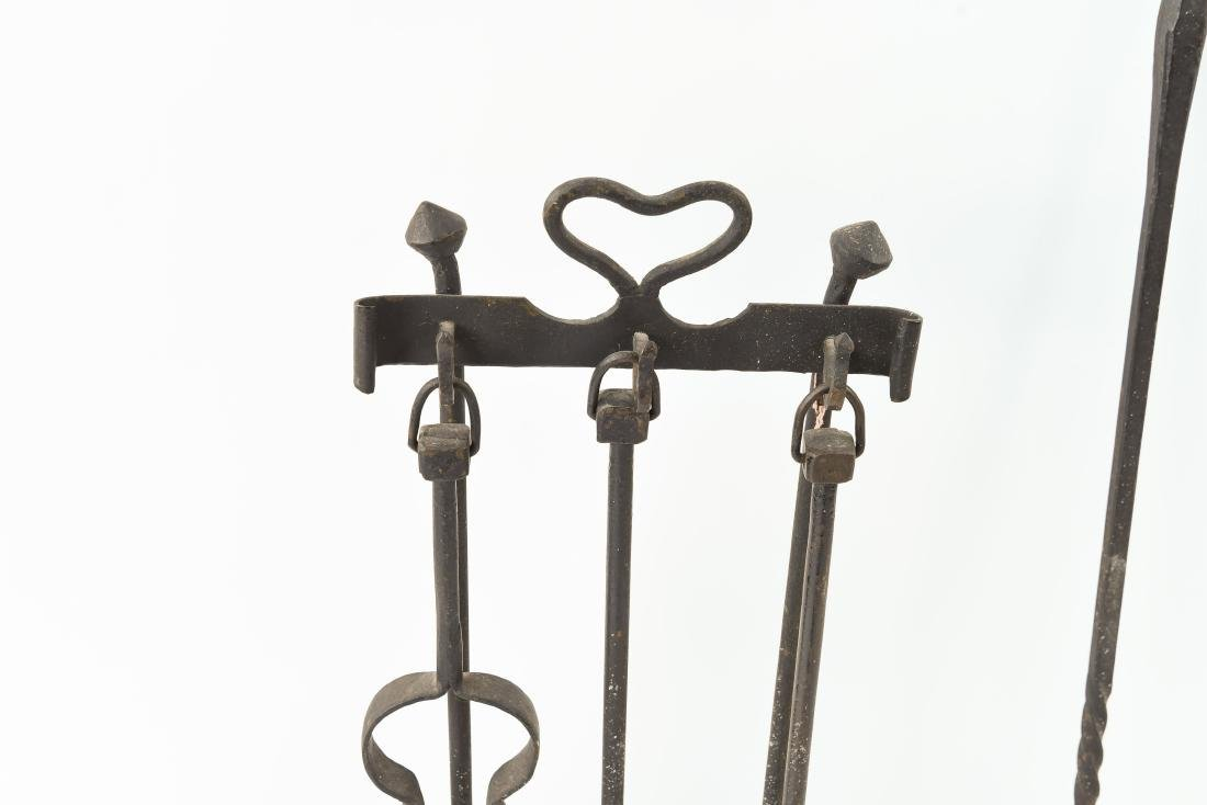 MODERN BRASS AND IRON FIRE TOOLS - 2