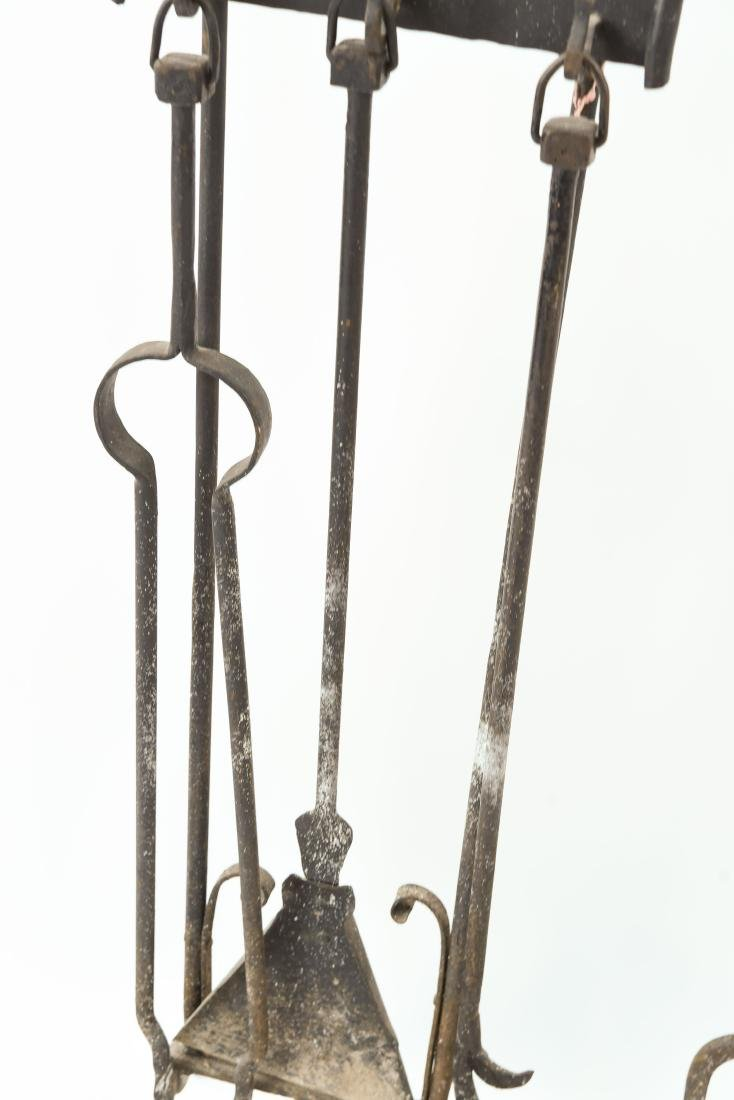 MODERN BRASS AND IRON FIRE TOOLS - 4