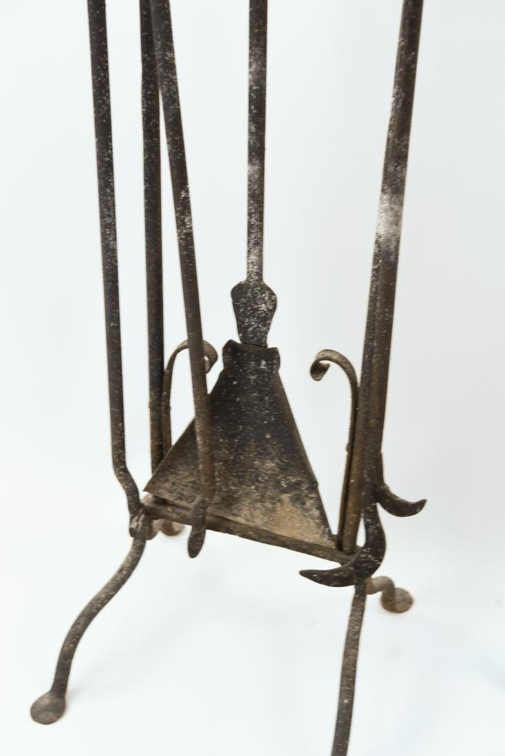 MODERN BRASS AND IRON FIRE TOOLS - 5