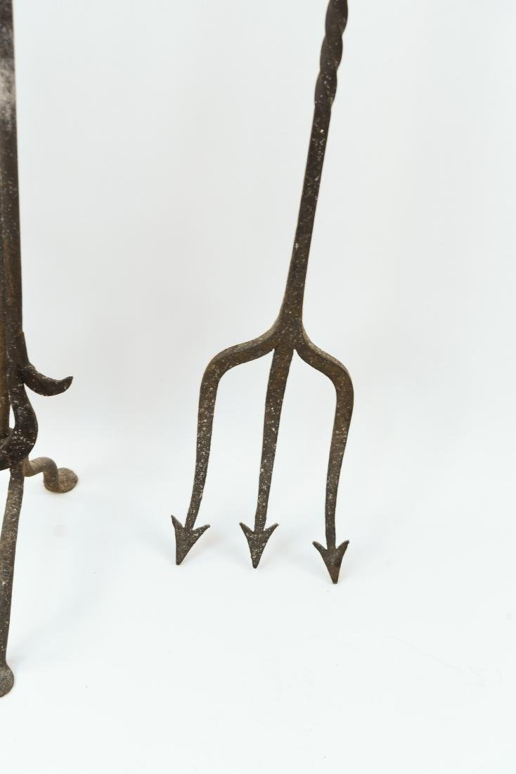 MODERN BRASS AND IRON FIRE TOOLS - 7