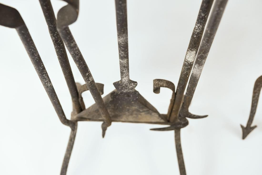 MODERN BRASS AND IRON FIRE TOOLS - 9