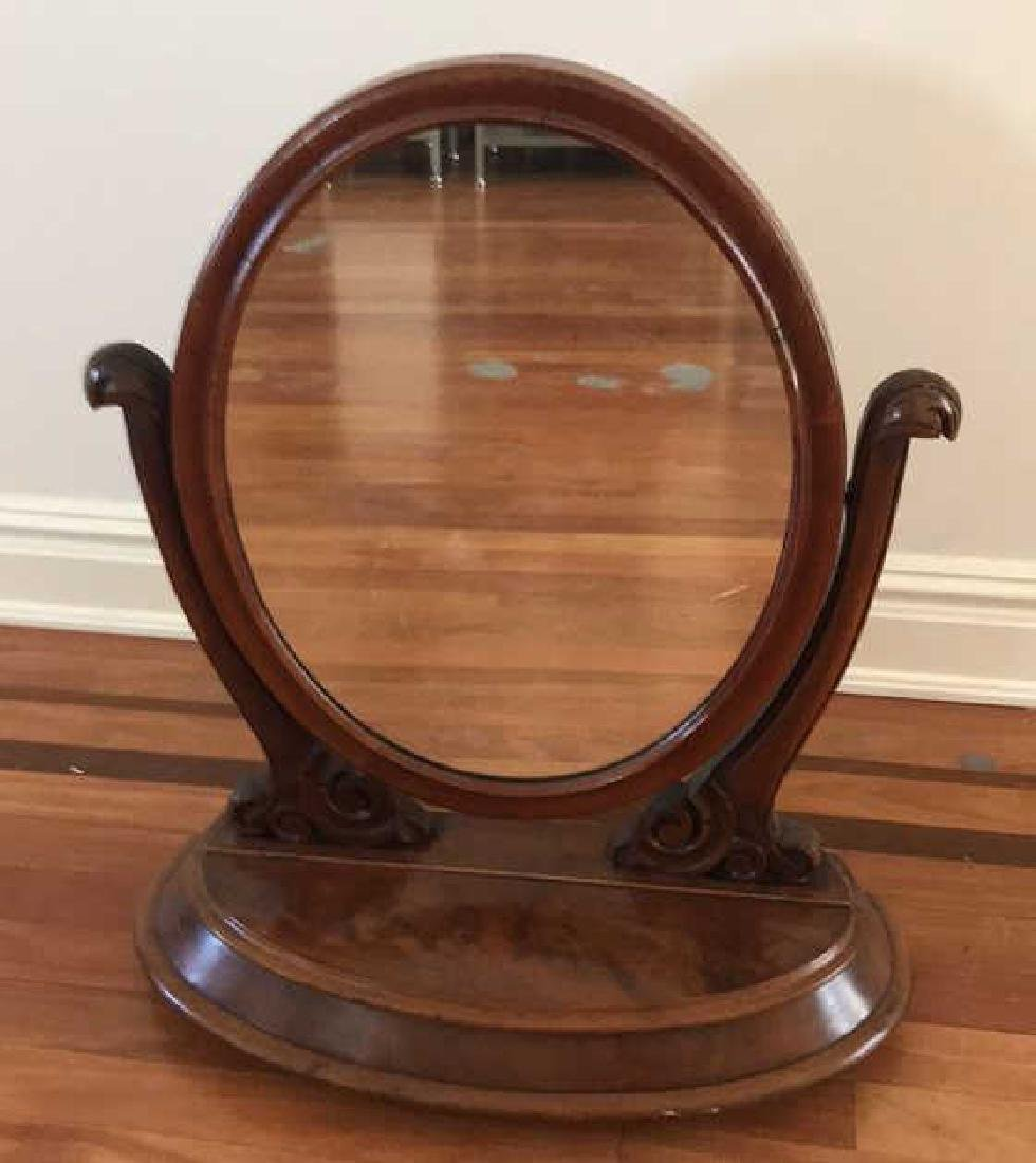 ANTIQUE VANITY/SHAVING MIRROR