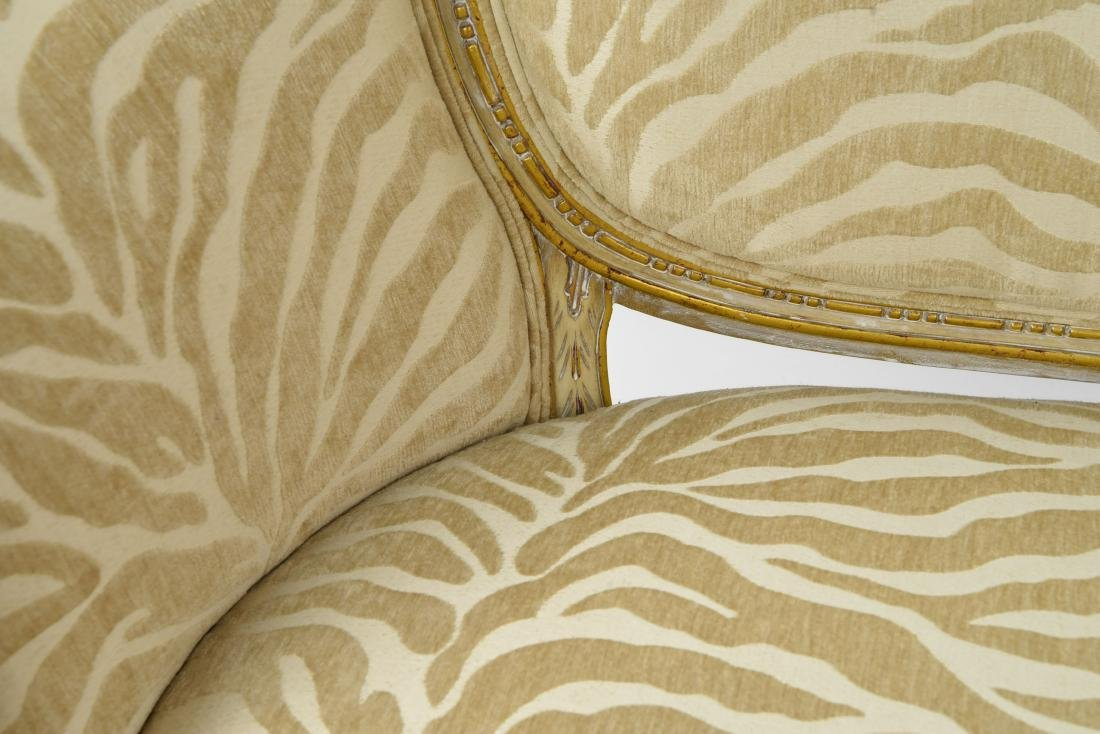 PAINTED AND UPHOLSTERED SETTEE - 9