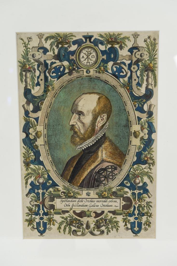 PORTRAIT ENGRAVING OF ABRAHAM ORTELIUS 1579