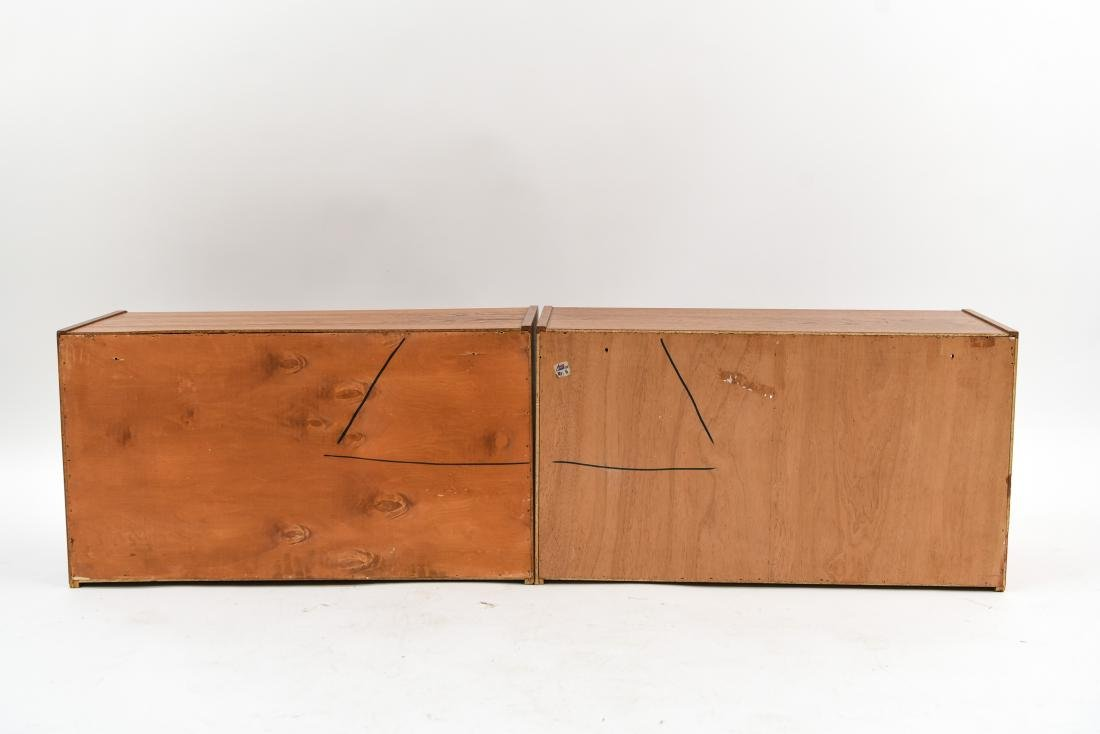 PAIR OF DANISH MID-CENTURY TEAK FLOATING CABINETS - 10