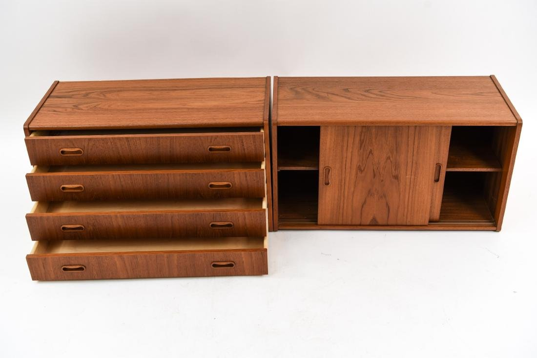 PAIR OF DANISH MID-CENTURY TEAK FLOATING CABINETS - 4