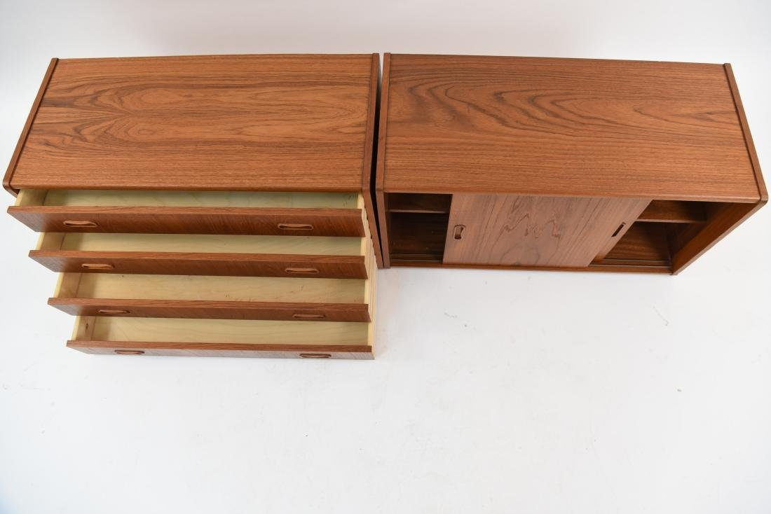PAIR OF DANISH MID-CENTURY TEAK FLOATING CABINETS - 6