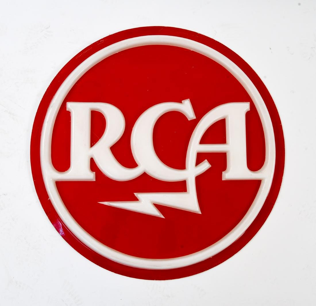 LARGE VINTAGE RCA MEATBALL RETAIL DISPLAY UNIT