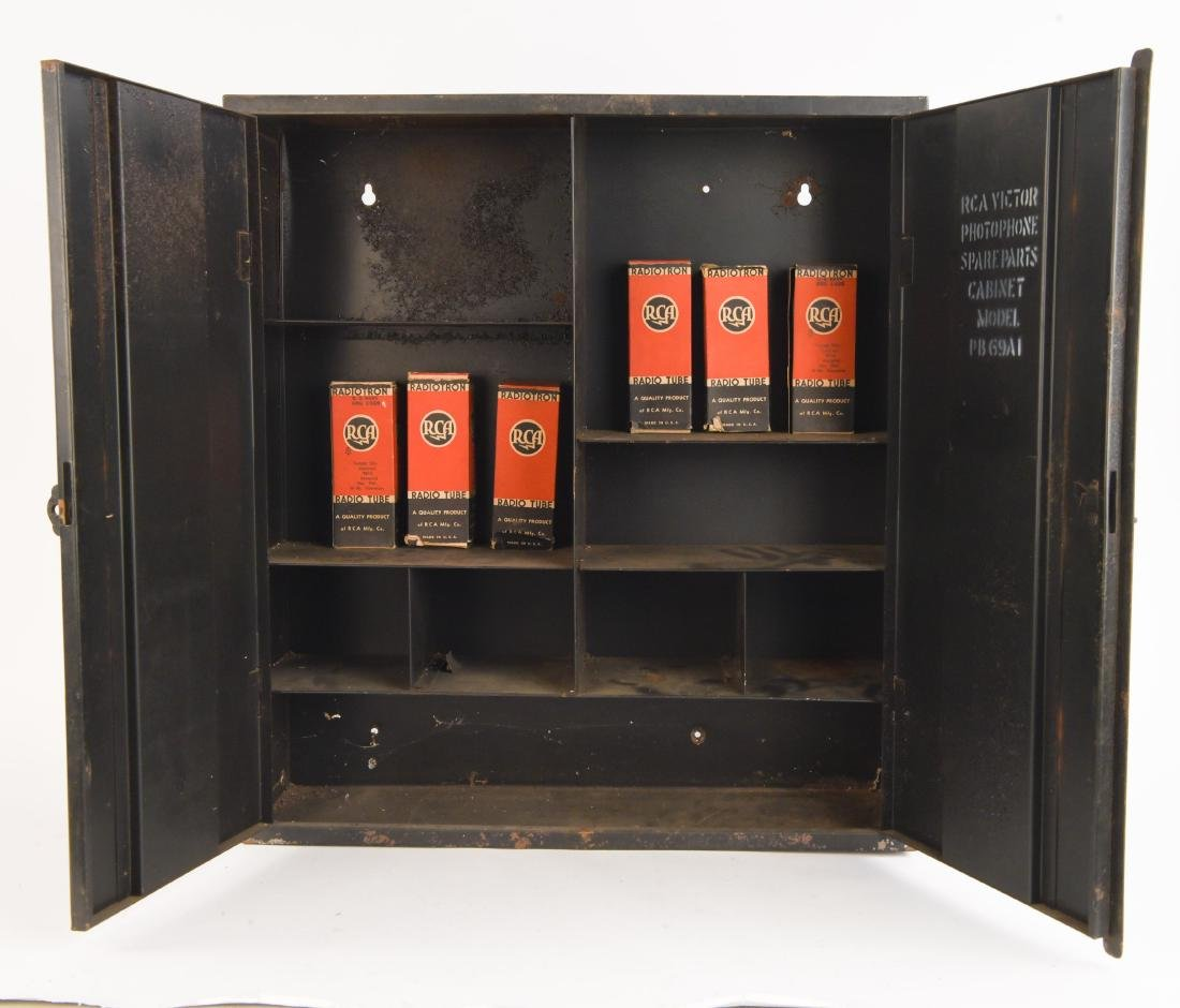 C. 1930 RCA PHOTOPHONE SPARE PARTS CABINET
