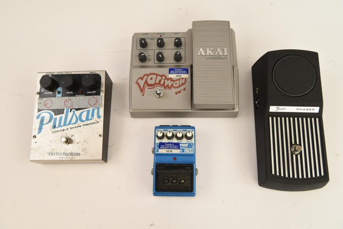 (4) GUITAR EFFECTS PEDALS