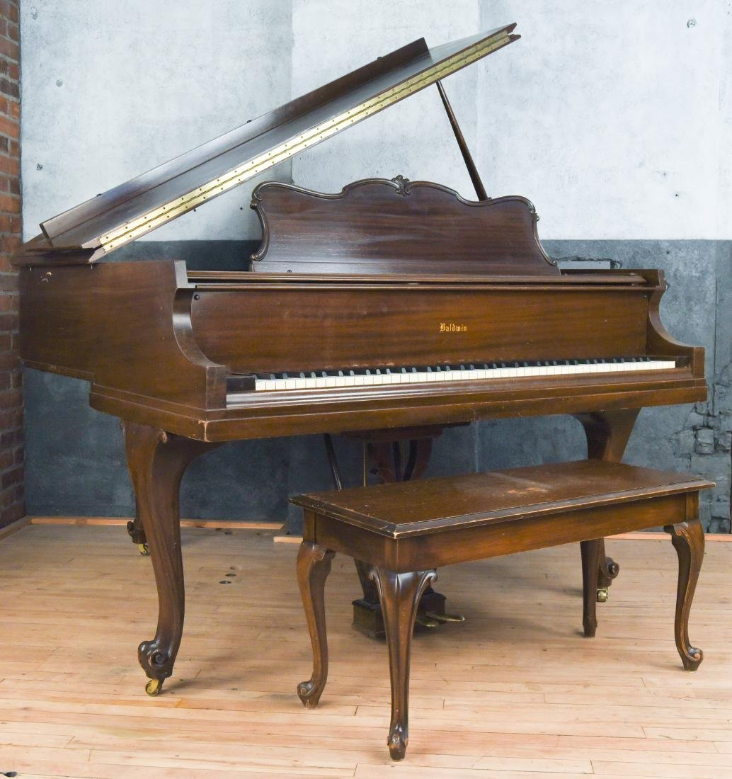 BALDWIN BABY GRAND PIANO WITH BENCH