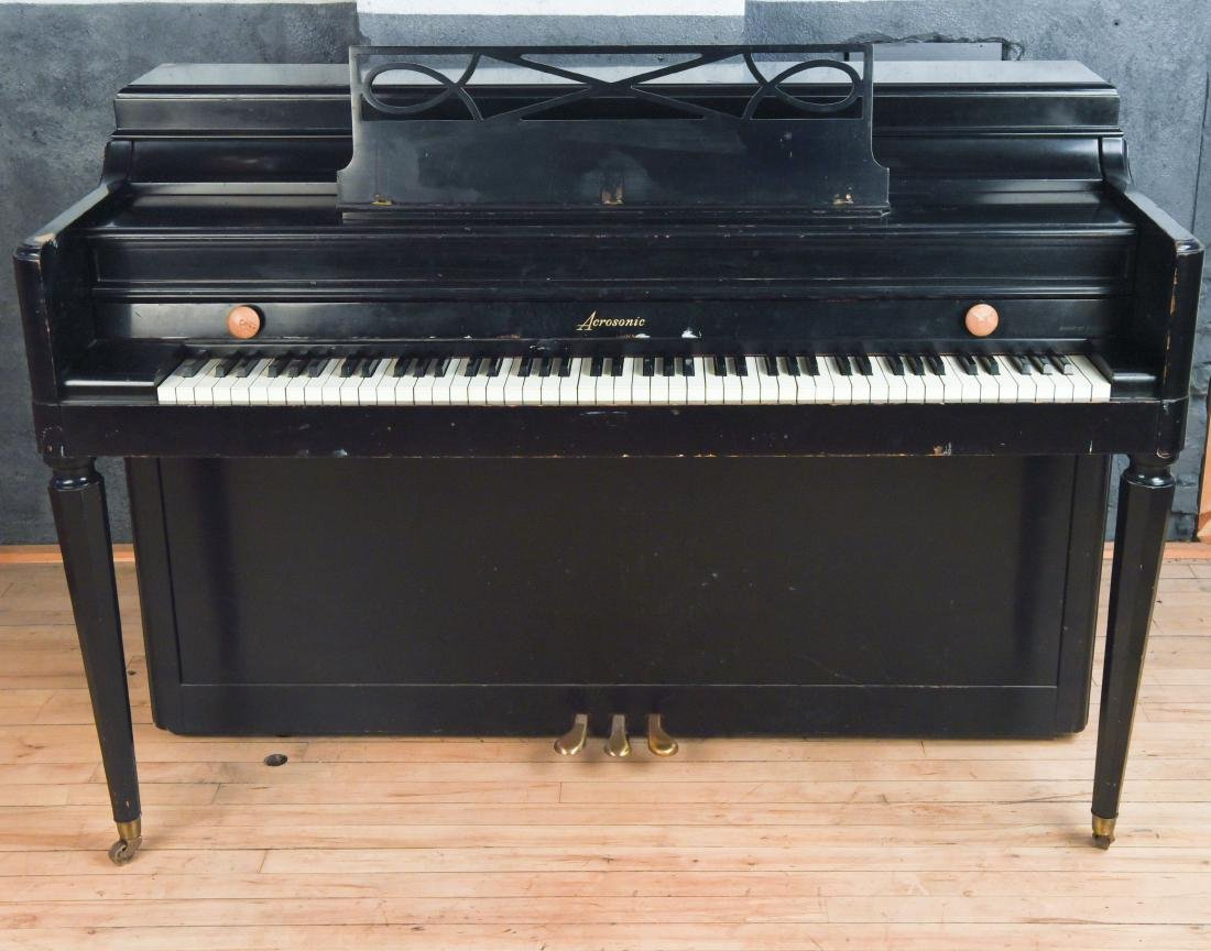 BALDWIN ACROSONIC PIANO W/ DECO CASE