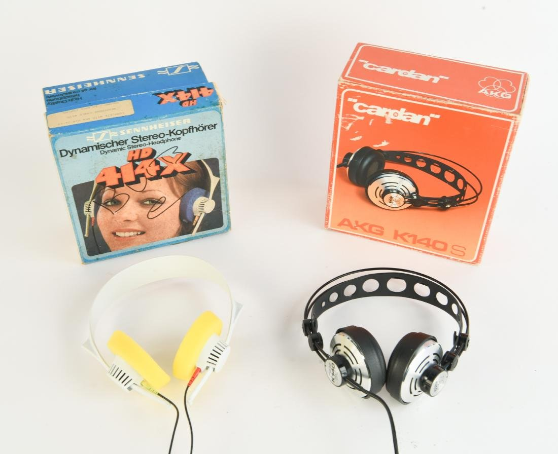 TWO PAIRS OF VINTAGE AUDIOPHILE HEADPHONES