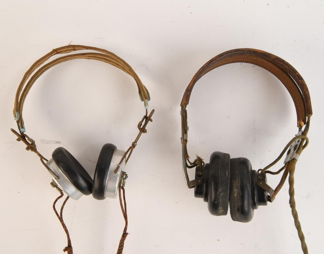 TWO VINTAGE HEADSETS