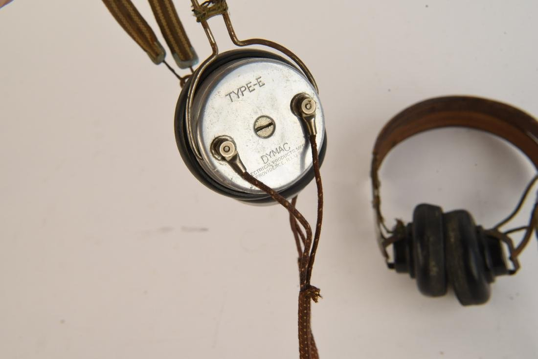 TWO VINTAGE HEADSETS - 2