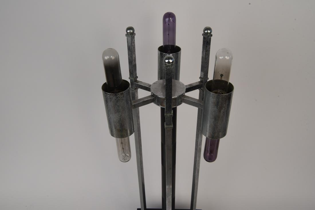 MID-CENTURY ATOMIC CHROME LAMP - 4
