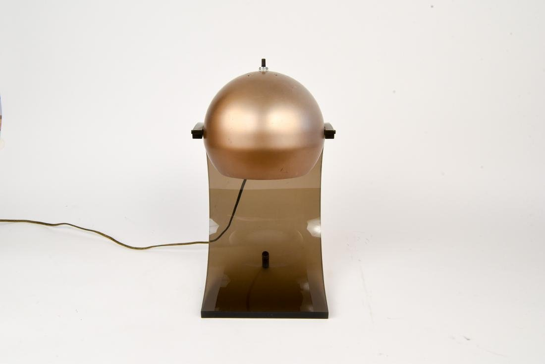 ROBERT SONNEMAN LUCITE EYEBALL LAMP - 3