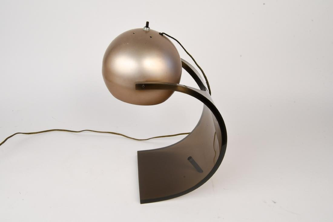 ROBERT SONNEMAN LUCITE EYEBALL LAMP - 4