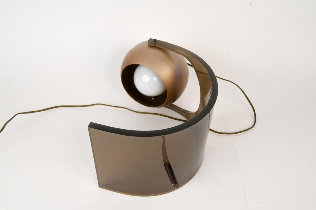 ROBERT SONNEMAN LUCITE EYEBALL LAMP - 5