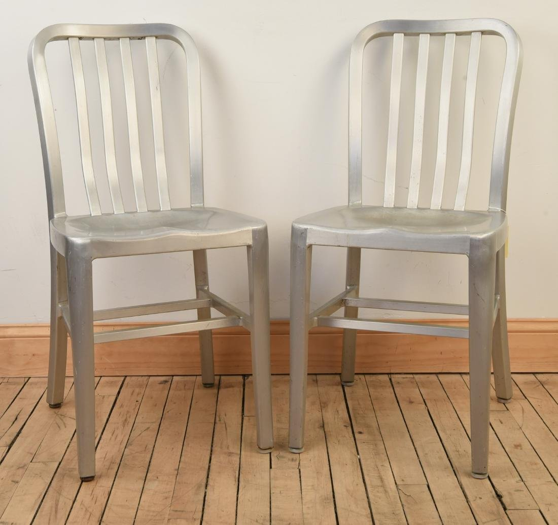 (2) ALUMINUM NAVY DECK CHAIRS