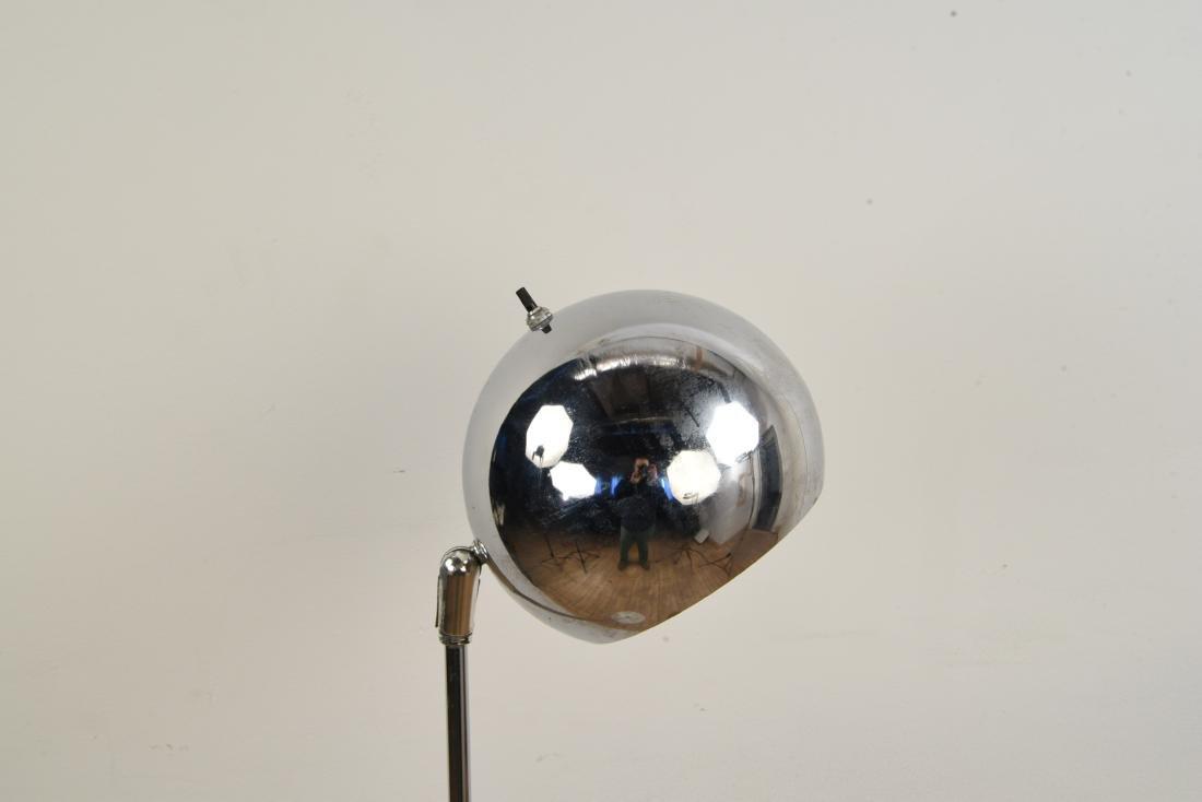 MID-CENTURY CHROME LAMP W/ MARBLE BASE - 3