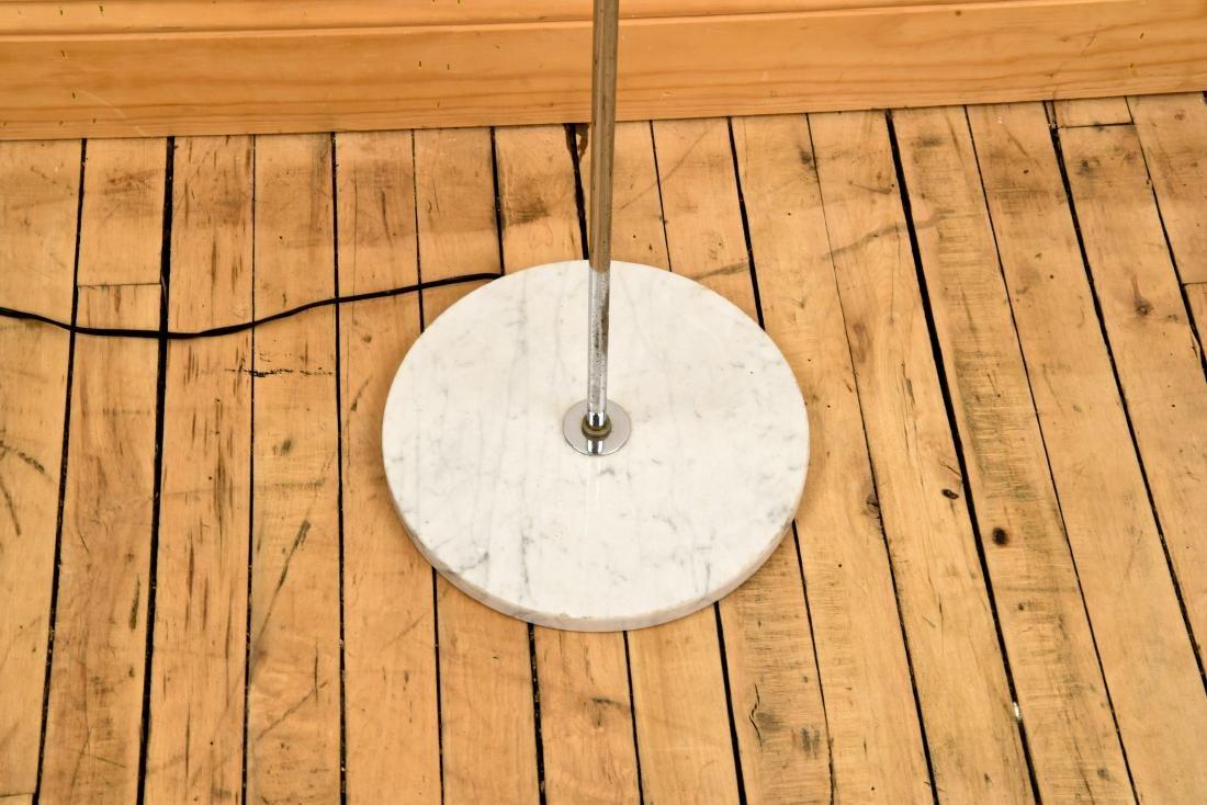 MID-CENTURY CHROME LAMP W/ MARBLE BASE - 4