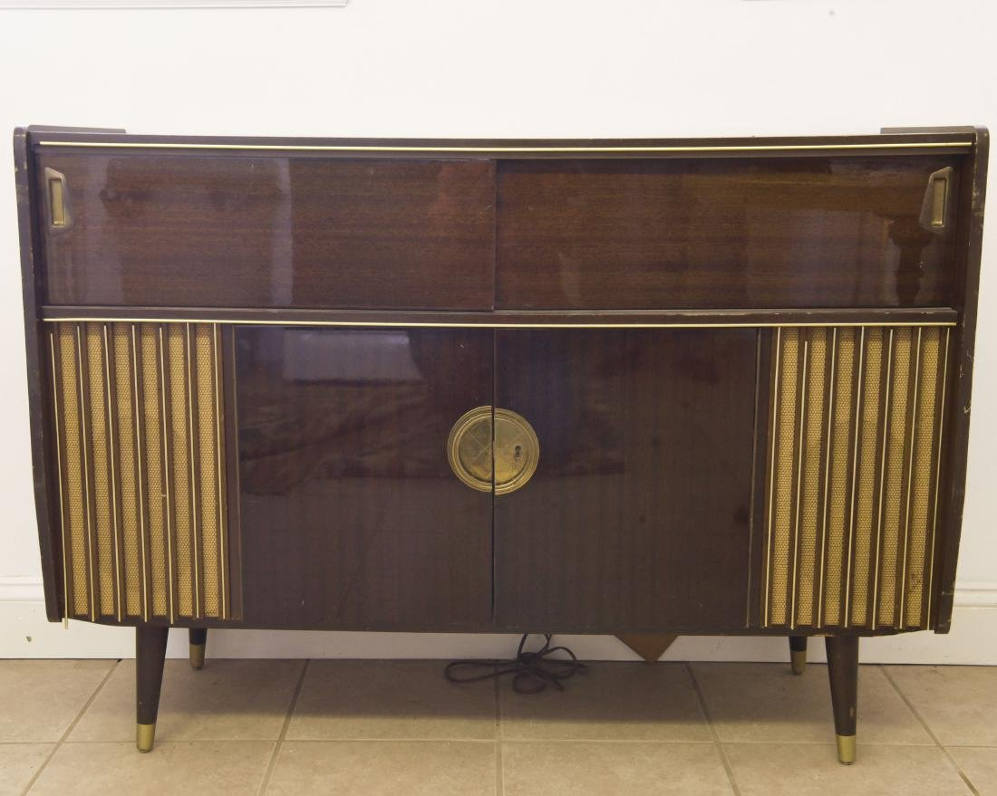 WEST GERMAN VACUUM TUBE CONSOLE STEREO 1960s