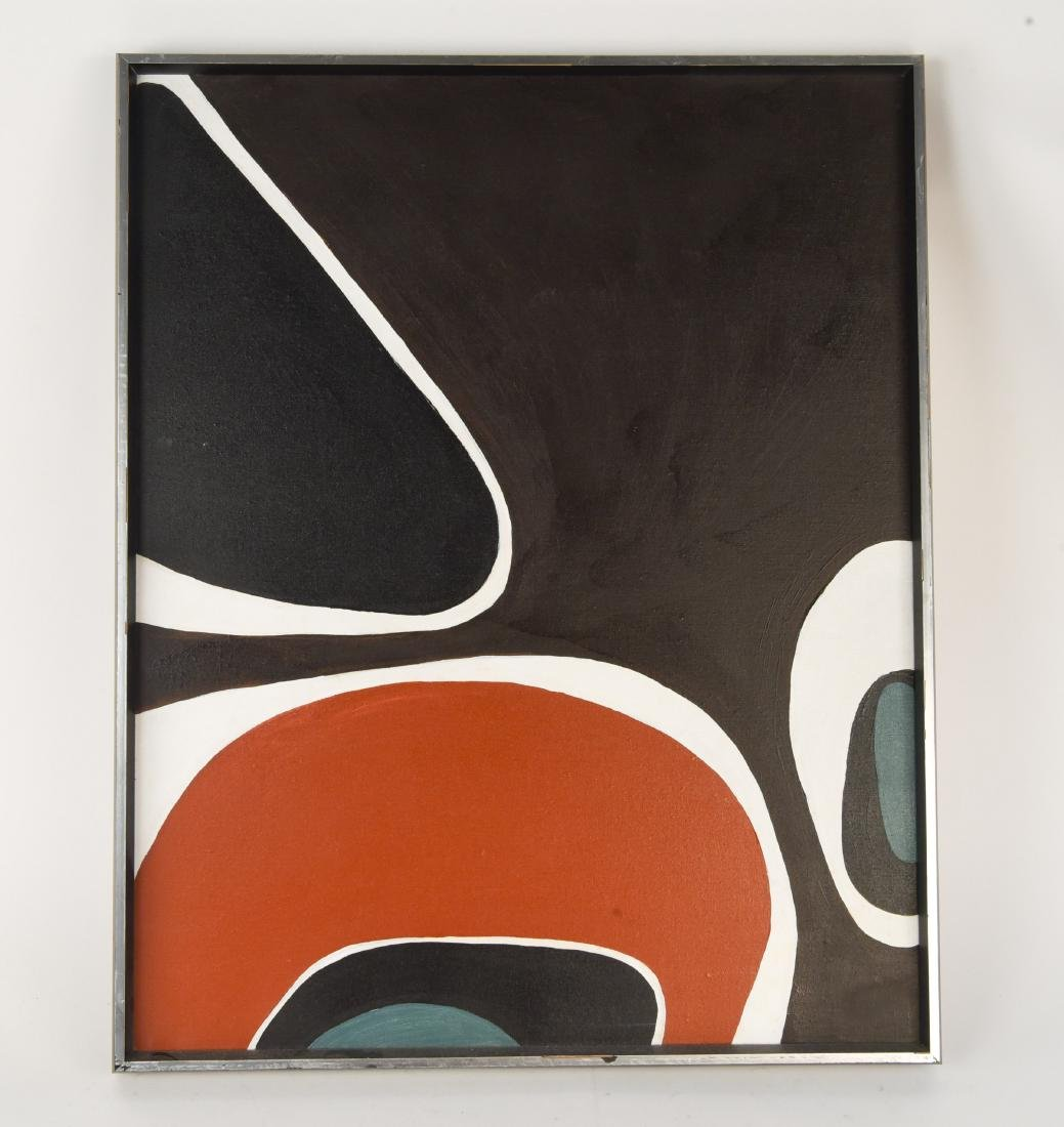 MID-CENTURY O/C ABSTRACT PAINTING
