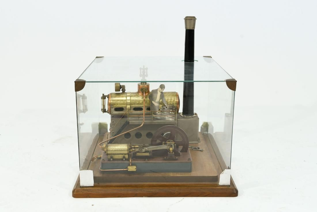 FRENCH INDUSTRIAL STEAM ENGINE MODEL C. 1950'S