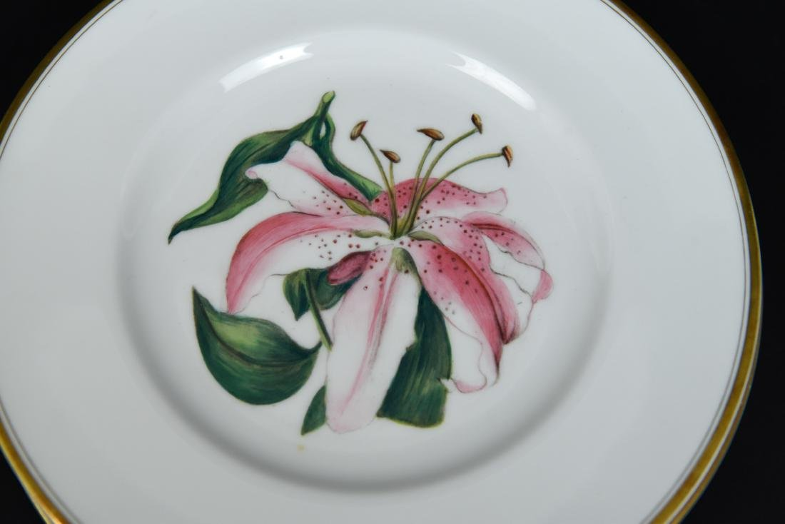 SET OF 12 ROYAL WORCESTER FLORAL PLATES - 10